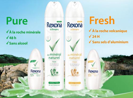 Rexona au minéral naturel