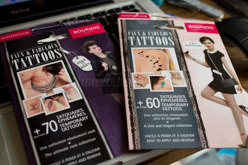 Bourjois : Faux & Fabulous Tattoos Rock it Baby et Chic Mademoiselle