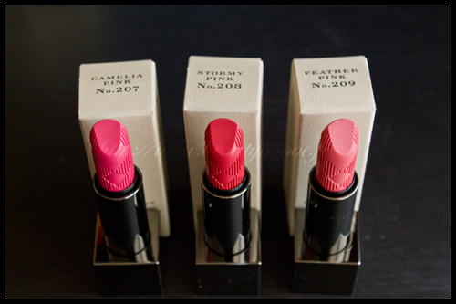 Burberry Lip Mist 207 Camelia Pink 208 Stormy Pink 209 Feather Pink
