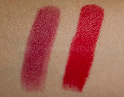 Burberry : Lip Velvet n°308 Pink Azalea & n°310 Military Red
