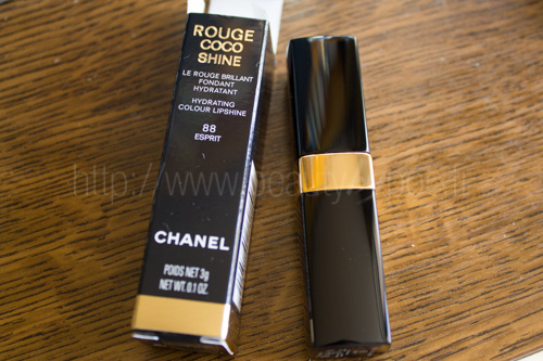 CHANEL : Rouge Coco Shine #88 Esprit - Superstition / Automne 2013