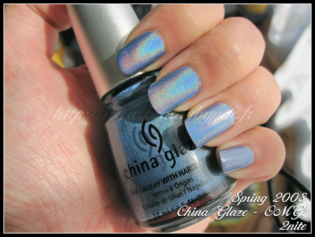 China Glaze 2NITE collection OMG! Spring 2008
