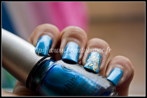 China Glaze : Deviantly Daring - New Bohemian Luster Chrome + Orly Sashay My Way - Flash Glam FX