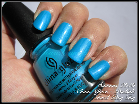 China Glaze Towel Boy Toy Poolside Summer 2010