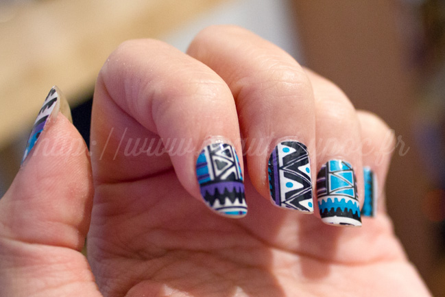 Compulsive Nails : Fringe Tribal