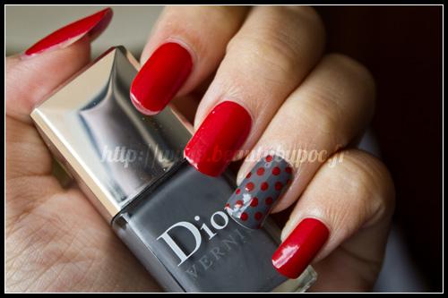 Dior : #999 Rouge Altesse & #707 Gris Montaigne - L'Anniversaire des Vernis Dior
