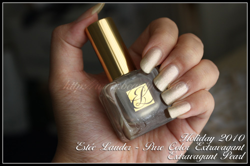 Estée Lauder Extravagant Pearl / Collection Pure Color Extravagant / Holiday 2010