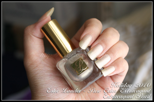 Estée Lauder Extravagant Pearl / Collection Pure Color Extravagant / Holiday 2010
