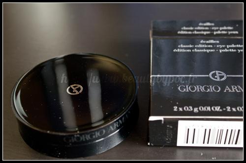 """Giorgio Armani : Palette Yeux """"Ecailles"""" Classique / Collection Ecailles - Eté 2012"""