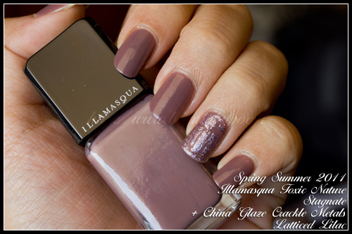 Illamasqua Stagnate Toxic Nature Spring Summer 2011 + China Glaze Crackle Metals Latticed Lilac