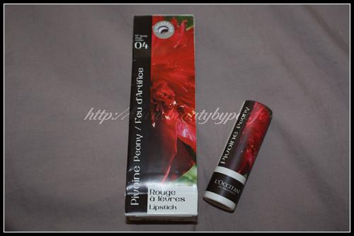 L'Occitane Rouge à lèvres Pivoine Peony Feu d'Artifice