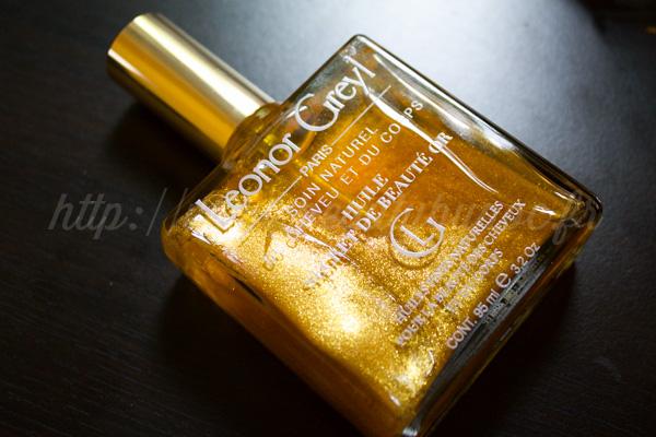 Leonor Greyl : Huile Secret de Beauté Or / Ooh ce parfum et ces nacres...