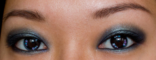 Make-up #73 : Guerlain Les Ombres de Nuit + Lentilles étoilées (GEO Trend Lens T-732)