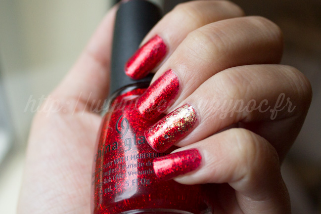 Noël 2014 : China Glaze Ring in the red & Ciaté Antique Brooch