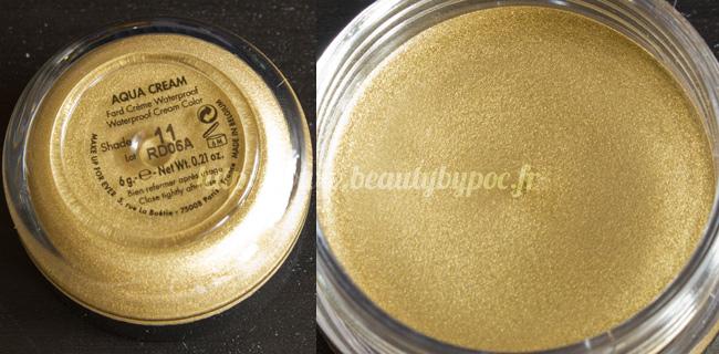 Make Up For Ever Kit Wild & Chic 10 Aqua Cream #11 Doré Noël 2011