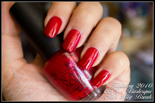 OPI Ali's Big Break Burlesque Holiday 2010