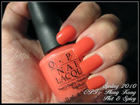 OPI Hot & Spicy - Hong Kong Spring 2010