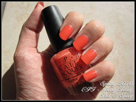 OPI hot & spicy Hong kong Spring 2010