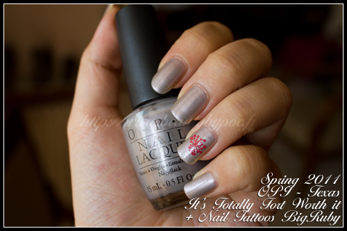 OPI It's totally fort worth it - Texas / Spring 2011 / Nail Tattoos - bigRuby