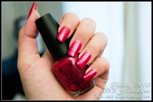 OPI Let me Entertain you Burlesque Holiday 2010