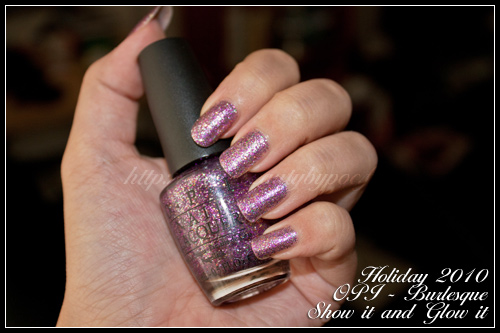 OPI Show it and Glow it Burlesque Holiday 2010