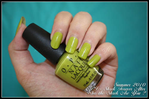 OPI Shrek Forever After - Who The Shrek Are You - Summer 2010