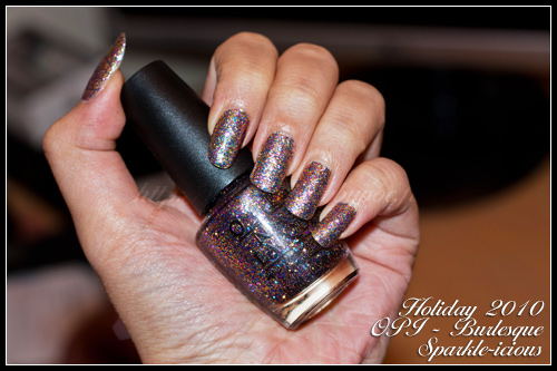 OPI Sparkle-icious Burlesque Holiday 2010