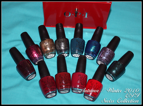 OPI Swiss Collection Autumn Winter 2010