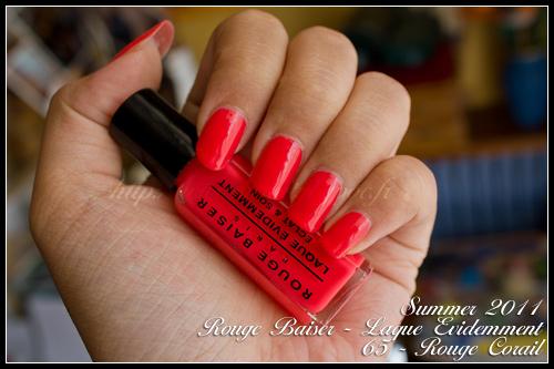 Rouge Baiser n°65 Rouge Corail - Laque Evidemment / Summer 2011