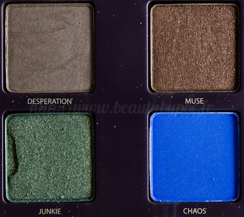Urban Decay : Vice Palette - Desperation / Muse / Junkie / Chaos