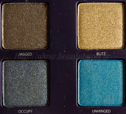 Urban Decay : Vice Palette - Jagged / Blitz / Occupy / Unhinged