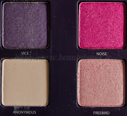 Urban Decay : Vice Palette - Vice / Noise / Anonymous / Freebird