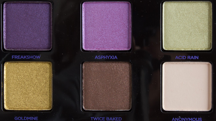 Urban Decay XX Vice Ltd Reloaded Freakshow Asphyxia Acid Rain Goldmine Twice Baked & Anonymous